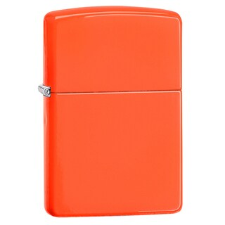 Zippo Neon Orange Windproof Lighter