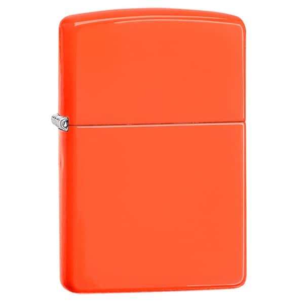 Zippo Neon Orange Windproof Lighter