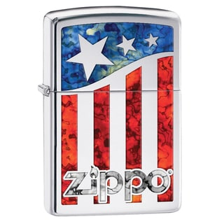 Zippo American Flag & Logo Windproof Lighter