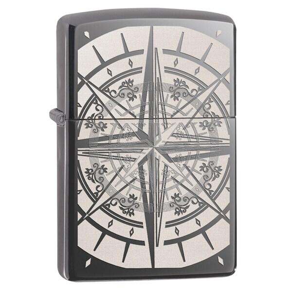 Zippo Compass Black Ice Windproof Lighter