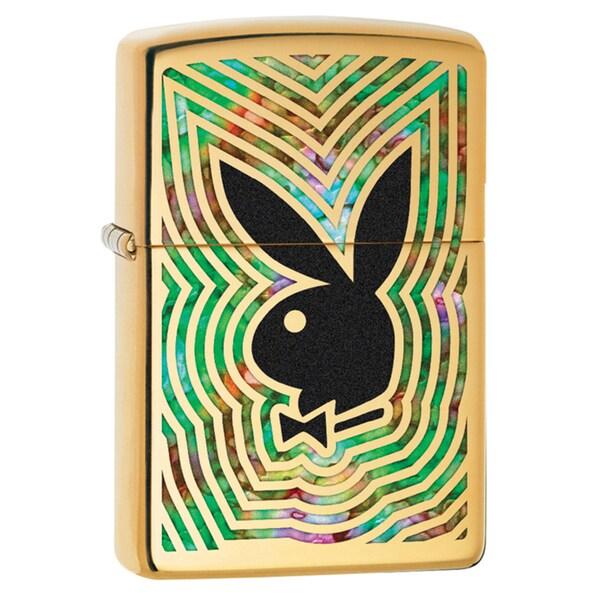 Zippo Green and Brass Playboy Windproof Lighter
