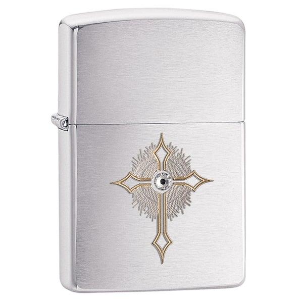 Zippo Crystal Cross Windproof Lighter