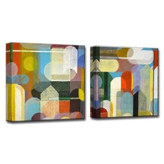 Calypso I/II' by Norman Wyatt, Jr 2-Piece Wrapped Canvas Wall Art Set