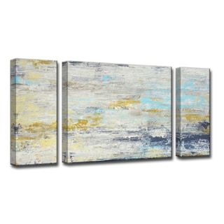 Surf and Sound  I/II/III' by Norman Wyatt, Jr 3-Piece Wrapped Canvas Wall Art Set