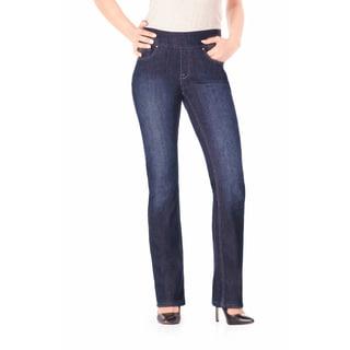 Bluberry Women's Blue Denim Cotton-blened Plus Size Jeans