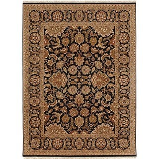 Hand Knotted Ebony Classic Pattern Rug (3' X 5')