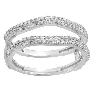 Elora 14k Gold 1/2ct TDW Round Diamond Enhancer Guard Double Ring (I-J, I1-I2)