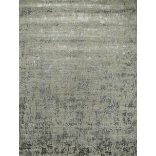 Hand Knotted Ashwood/Frost Gray Contemporary Pattern Rug (4' X 6')