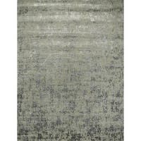 Hand Knotted Ashwood/Frost Gray Contemporary Pattern Rug - 4 x 6