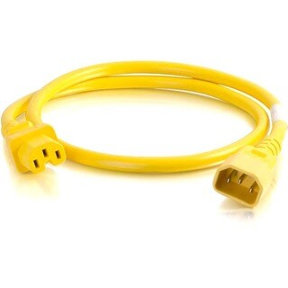 C2G 2ft 18AWG Power Cord (IEC320C14 to IEC320C13) - Yellow
