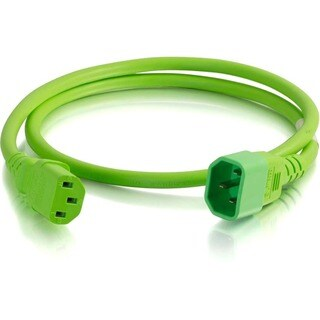 C2G 6ft 14AWG Power Cord (IEC320C14 to IEC320C13) - Green