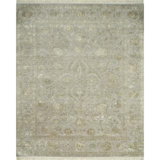 Hand Knotted Crystal Gray Classic Pattern Rug (6' X 9')