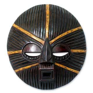Handcrafted Sese Wood 'Bright New Day' African Wall Mask (Ghana)