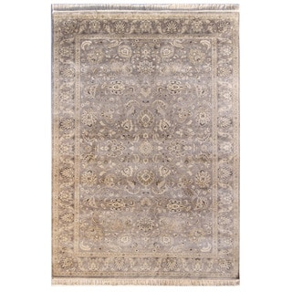 Hand Knotted Shale Classic Pattern Rug (6' X 9')