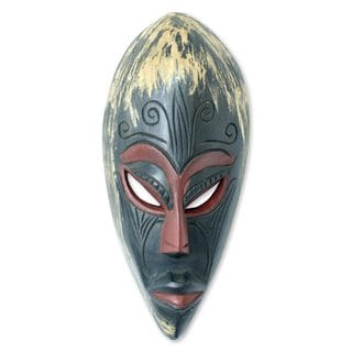 Handcrafted Sese Wood 'Origins' African Wall Mask (Ghana)