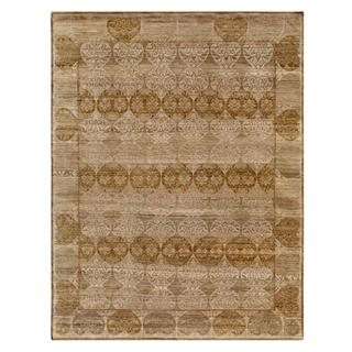 Hand Knotted Dark Ivory Transitional Pattern Rug (2' X 3')