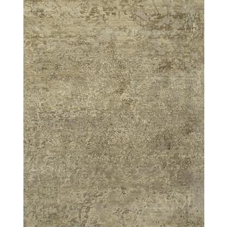 Hand Knotted Classic Gray Contemporary Pattern Rug (2' X 3')