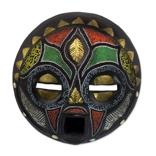 Handcrafted Sese Wood 'Girl Grows Up' African Mask (Ghana)