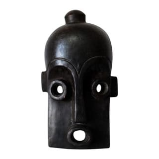 Handcrafted Sese Wood 'Mende Initiation' African Wall Mask (Ghana)