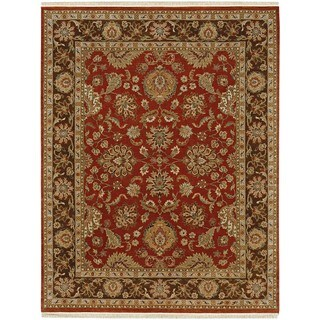 Hand Knotted Rust/Tobacco Classic Pattern Rug (2' X 3')