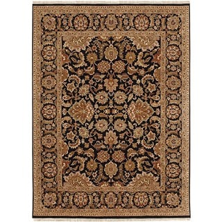 Hand Knotted Ebony Classic Pattern Rug (2'6 X 4')