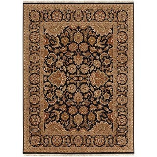 Hand Knotted Ebony Classic Pattern Rug (2'6 X 6')