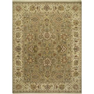 Hand Knotted Kelp/Light Gold Classic Pattern Rug (2'6 X 6')