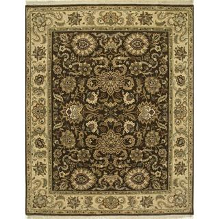 Hand Knotted Tobacco/Sand Classic Pattern Rug (2'6 X 4')