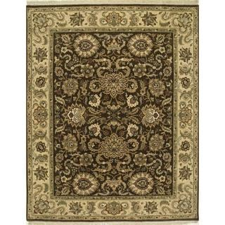 Hand Knotted Tobacco/Sand Classic Pattern Rug (2'6 X 6')