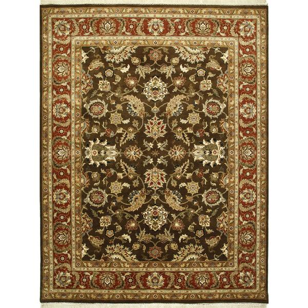 Hand Knotted Tobacco/Rust Classic Pattern Rug (2' X 3')