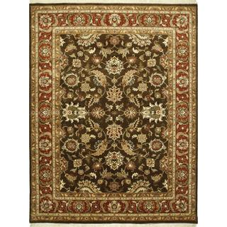 Hand Knotted Tobacco/Rust Classic Pattern Rug (2'6 X 4')