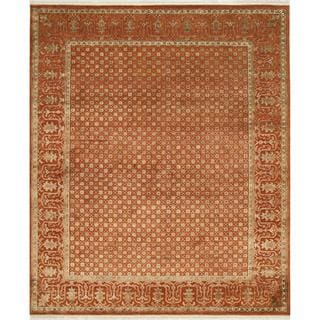Hand Knotted Red Orange Transitional Oriental Pattern Rug (8' X 10')