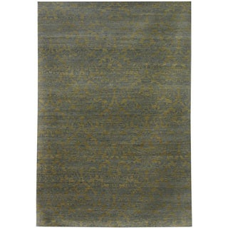 Hand Knotted Apple Green Transitional Pattern Rug (8' X 10')