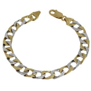 Regalia 10K Yellow Gold Two-tone Link Bracelet