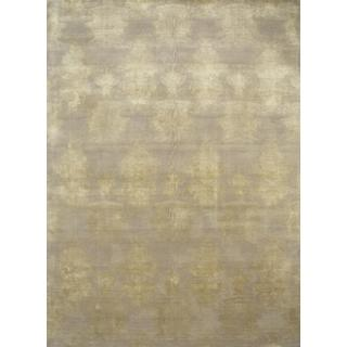 Hand Knotted Ivory/White Sand Contemporary Pattern Rug (8' X 10')