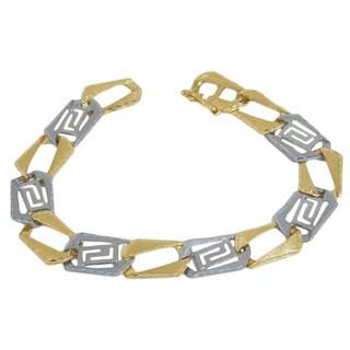 Regalia 2-tone 10k Gold Chain Link Bracelet