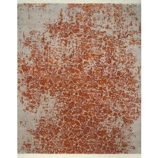 Hand Knotted Light Shale/Sunset Contemporary Pattern Rug (8' X 10')
