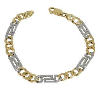 Regalia 2-tone 10k Gold 9-inch Chain Link Bracelet
