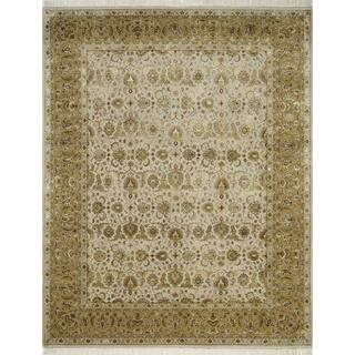 Hand Knotted Medium Ivory/Royal Gold Classic Pattern Rug (8' X 10')