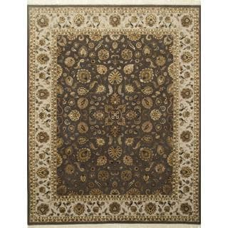 Hand Knotted Mushroom/Ivory Classic Pattern Rug (8' X 10')