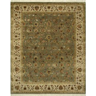 Hand Knotted Walnut/Beige Classic Pattern Rug (8' X 10')