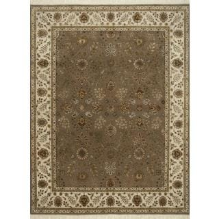 Hand Knotted Light Brown/Light Ivory Classic Pattern Rug (8' X 10')