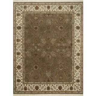 Hand Knotted Light Brown/Light Ivory Classic Pattern Rug (9' X 12')