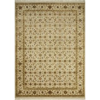 Hand Knotted Light Tan Classic Pattern Rug (8' X 10')