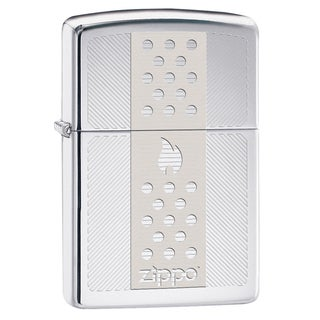 Zippo Signature Flame and Ignition Design Chrome Windproof Lighter