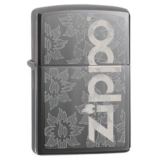 Zippo Flame Flower Black Ice Windproof Lighter