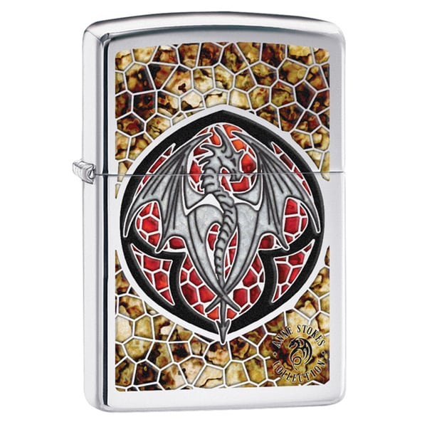 Zippo Mosaic Dragon High Polish Chrome Windproof Lighter