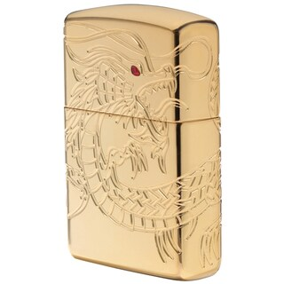 Zippo MultiCut Dragon High Polish Gold Windproof Lighter