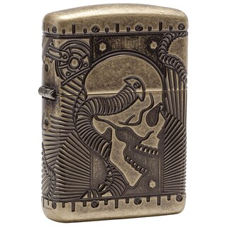 Zippo MultiCut Steampunk Armor Brass Windproof Lighter