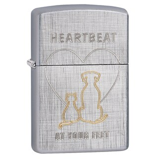 Zippo Heartbeat At Your Feet Windproof Lighter
